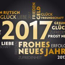 Danke für die gute Zusammenarbeit - alles Gute für 2017