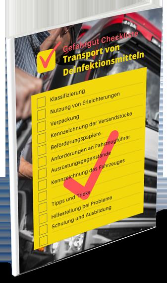 Gefahrgut Checkliste Transport von Desinfektionsmitteln